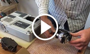 O vídeo sobre a substituição Panasonic
